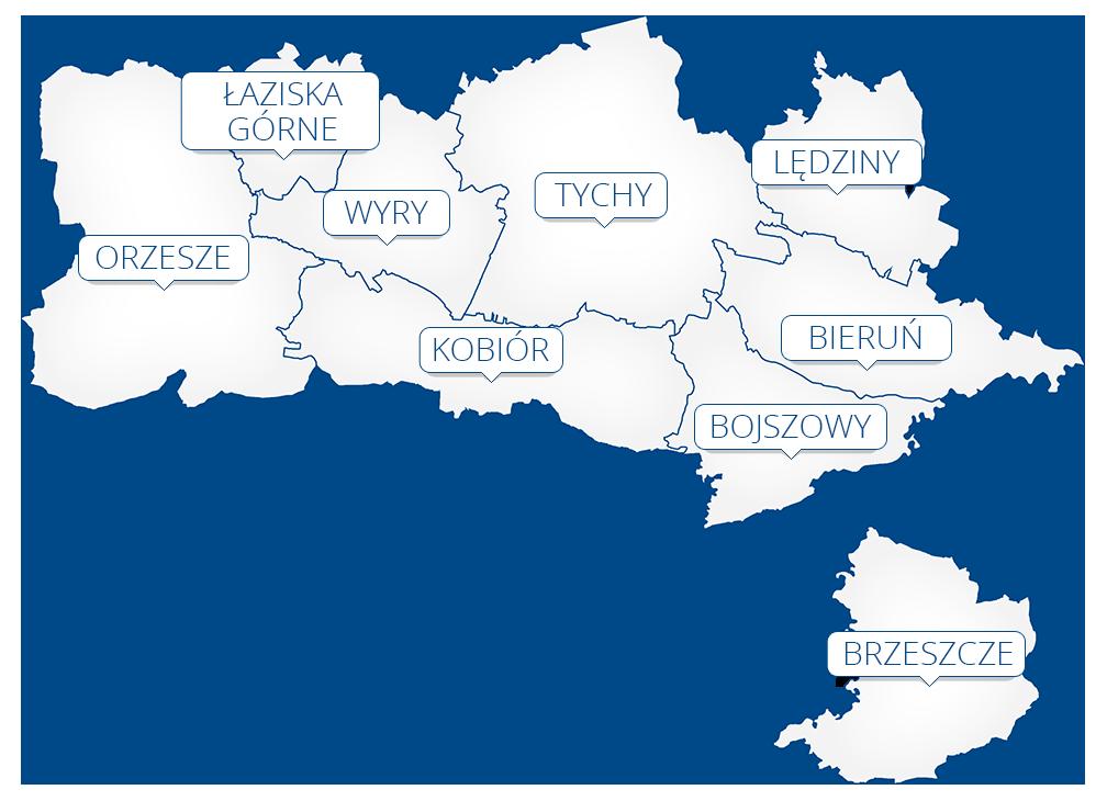 RPWIK Tychy obszar działania